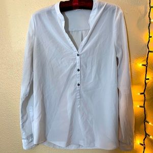ZOA New York Ivory Button Down Blouse Small